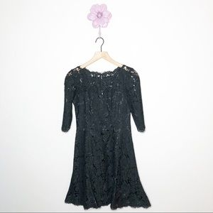Eliza J Black Lace Drop Waist Dress Size 4